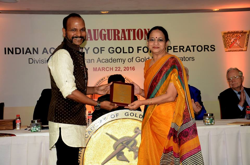 Honorary Membership - Indian Academy of Gold Foil Operators